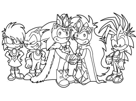 Sonic The Werehog Coloring Pages To Print Many Interesting