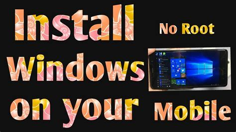 run windows on android how to install windows on android mobile run windows on