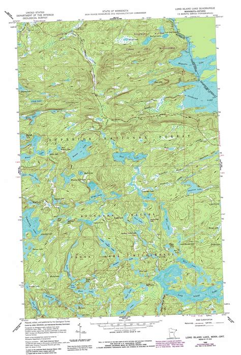 minnesota topographic map island lake topographic map mn usgs topo 48090a7