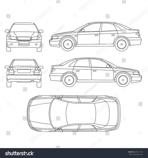 car line diagram vehicle diagram top view vehicle top view