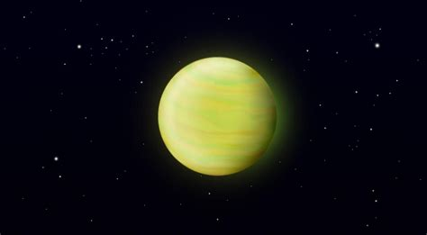 planet bright yellow wallpaper