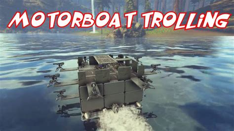 motorboat on ark motorboat trolling ark official pvp youtube