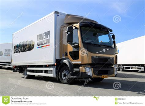 volvo truck range volvo fl512 delivery truck editorial stock photo image of