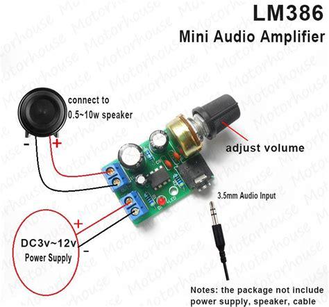 Power Mini Lifier 4440 1 lm386 audio power lifier board dc 3v 12v 5v mini module adjustable volume ebay