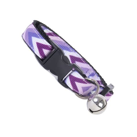 safety collar purple chevron cat safety collar coolcatcollars co uk