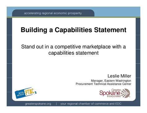 capabilities presentation template capabilities statements wa ptac