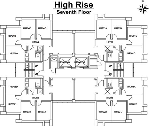 high rise residential building floor plans high rise