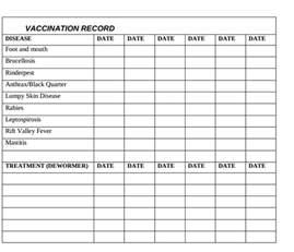 vaccination record template pin puppy vaccination record form on