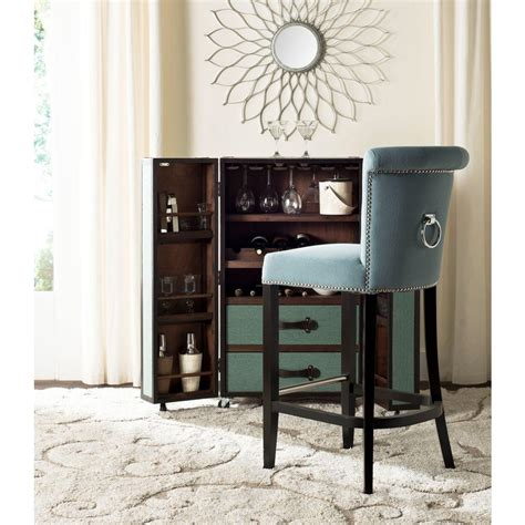 blue bar stools kitchen furniture safavieh addo 29 7 in sky blue cushioned bar stool