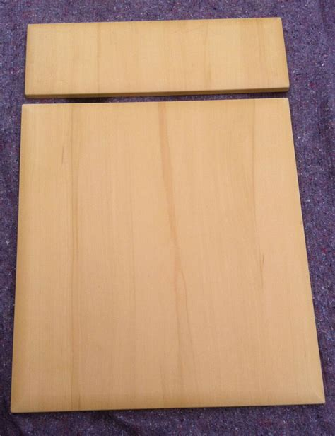 beech bevel edge kitchen cabinet cupboard doors fits