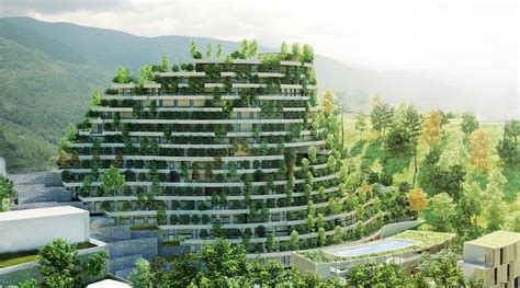 Building Design Plans by Vertical Forest Resort To Be Built In China By Cachet