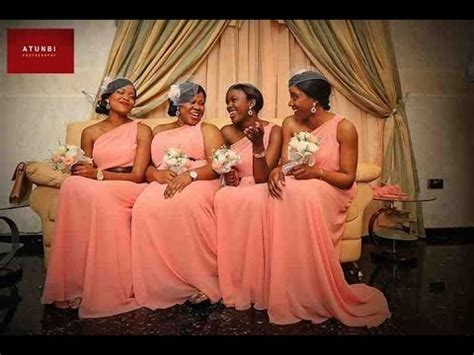 latest bridesmaid dress styles for nigerian & black