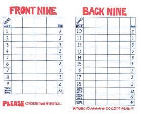 golf scorecard template golf scorecards templates car pictures car