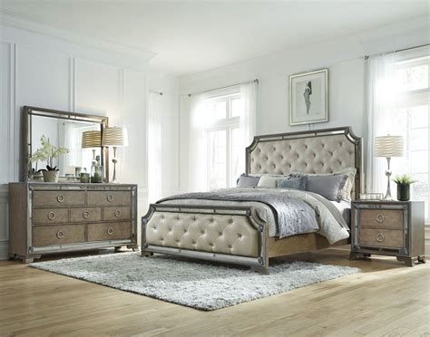pulaski bedroom set karissa light wood upholstered panel bedroom set from