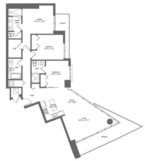 mint floor plans floorplans mint miami rentals