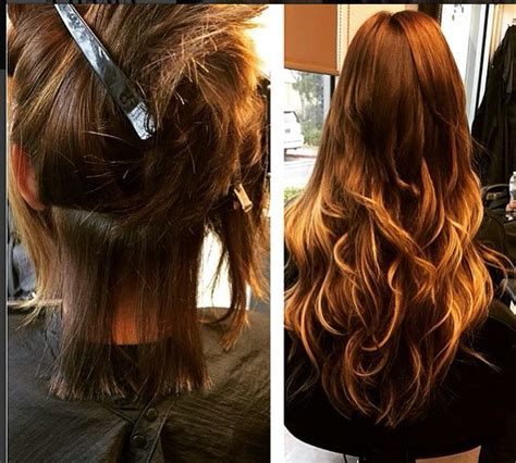 haircut before extensions 72 best hair extensions before and after images on