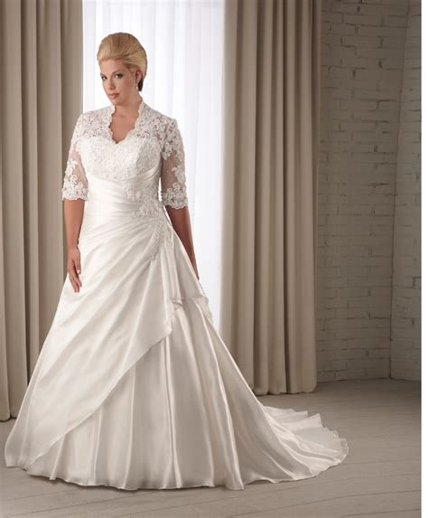 Plus Size Wedding Dresses With Sleeves by Fall Plus Size Wedding Dresses With Sleeves For