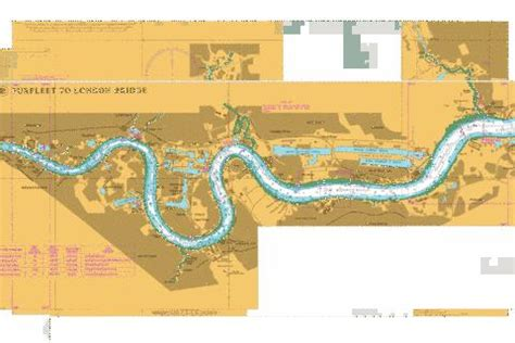 thames river navigation map river thames margaret ness to tower bridge marine chart