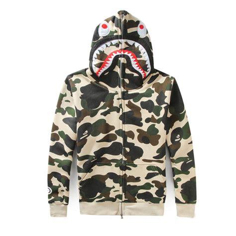 Jaket Sweater Zipper Army high quality men s zipper bape shark hoodie
