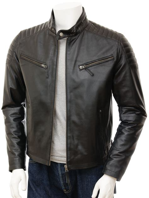 mens black leather motorcycle jacket mens black biker leather jacket maikop men caine
