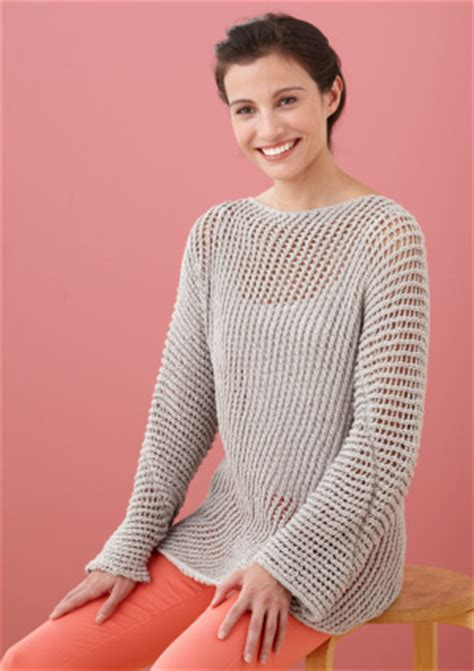 knit mesh sweater pattern lace pullover knitting patterns in the loop knitting