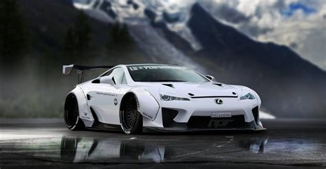 widebody lexus lfa lexus lfa gets a virtual liberty walk makeover carscoops