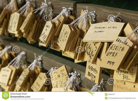 japan nara kasuga shrine small wooden plaques with prayers