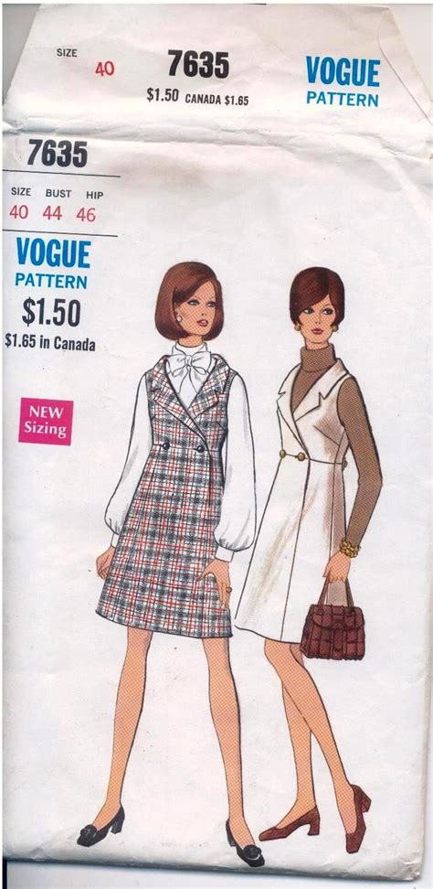 vogue pattern numbers vogue pattern vintage size 40 bust 44 hip 46 number 7635
