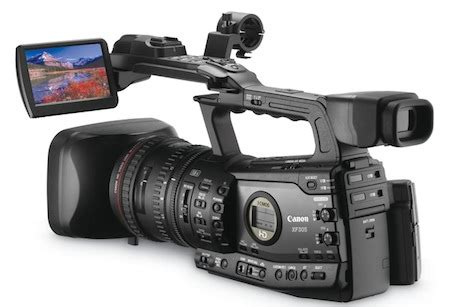 canon grants xf305 and xf300 pro camcorders with 3d power