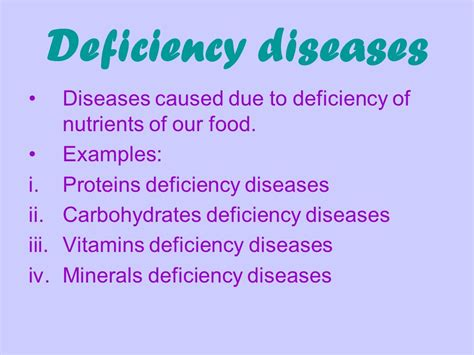 carbohydrates disease deficiency of nutrients and its effect ppt