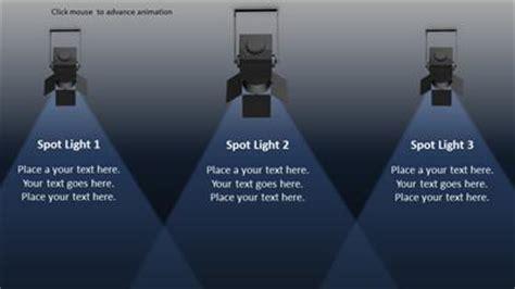 In The Spotlight A Widescreen Powerpoint Template From Presentermedia Com Spotlight Powerpoint Template
