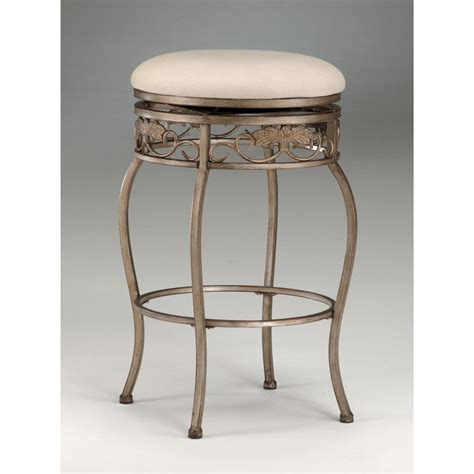 hillsdale bordeaux backless swivel counter stool 118176