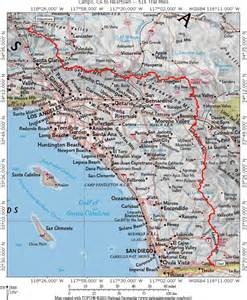 pacific crest trail map california california map