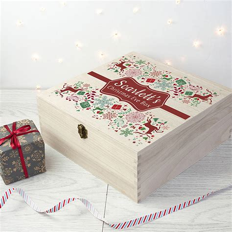 personalised traditional christmas eve box by letteroom