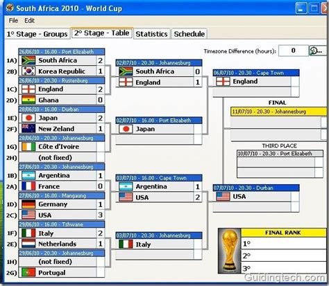 result of world cup south africa 2010 stay updated with fifa world cup 2010