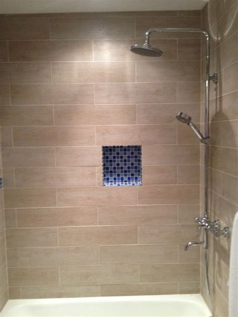 fliesen holzoptik dusche wood tile shower crowdbuild for
