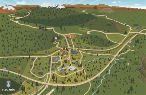 Chicago Mba Visit Cus by Nau Map Great Places To Visit In Northern Arizona Maps