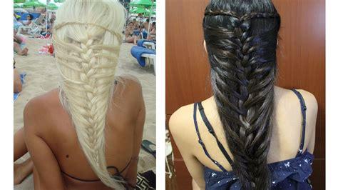 the ultimate mermaid braid step by step instructions mermaid french braid hairstyle for medium long hair