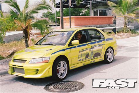 mitsubishi lancer evolution fast and furious tribute to the late paul walker