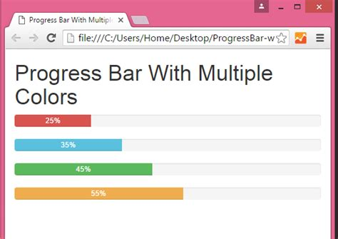 tutorial android studio progress bar change color of bootstrap progress bar in html php
