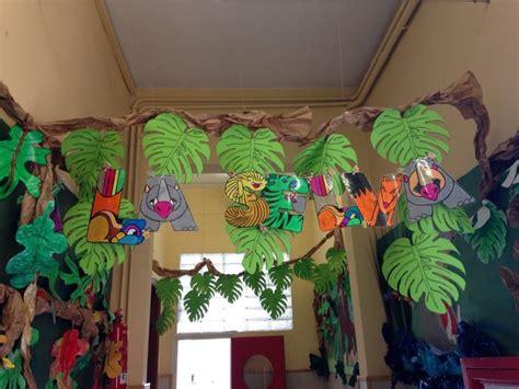 como decorar un salon de selva 25 melhores ideias de sala de aula tema de selva no pinterest