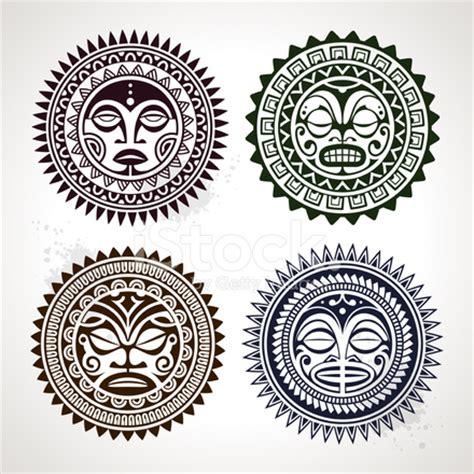 polinezyjski tatuaż stylu maski zdjęcia ze zbior 243 w