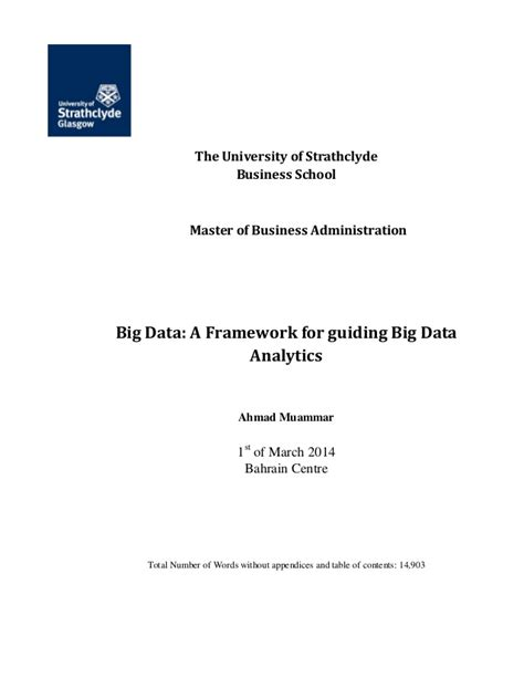 Essex Business School Mba by Big Data Performance Management Thesis