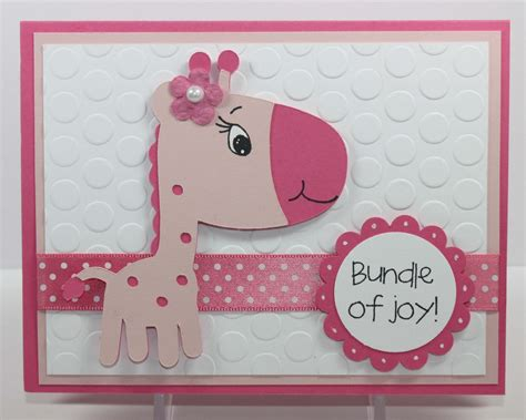 how to make a baby card simply pam episode 39 baby giraffe card