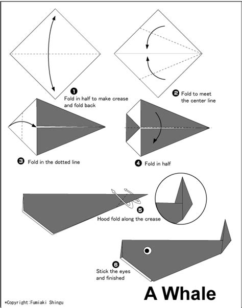 Easy Origami Models - whale easy origami for