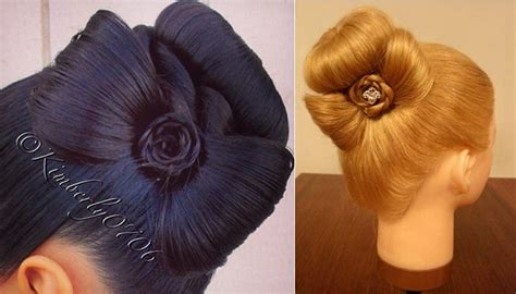 how to do a bun with a decorative comb sophisticated bun decorated with a cute bow diy alldaychic