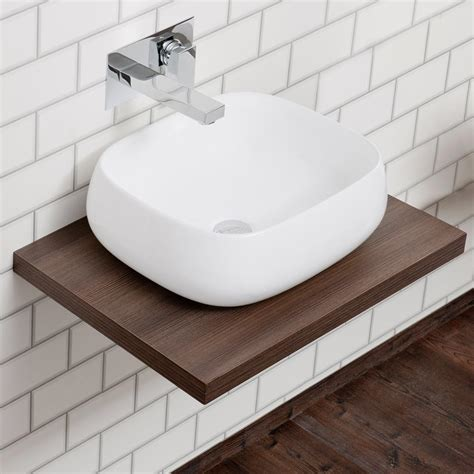 wall hung slimline countertop basin shelf plumbing