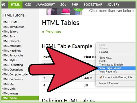 html for a table how to the table for your website in html 15 steps