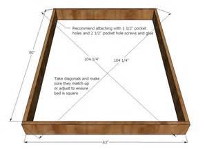 Bed Frame Dimensions Diy Build Size Platform Bed Frame Woodideas