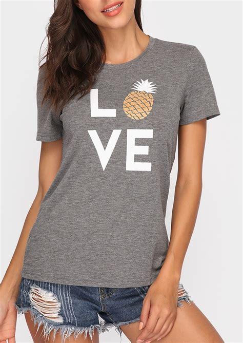 Sleeve Pineapple T Shirt pineapple sleeve t shirt bellelily